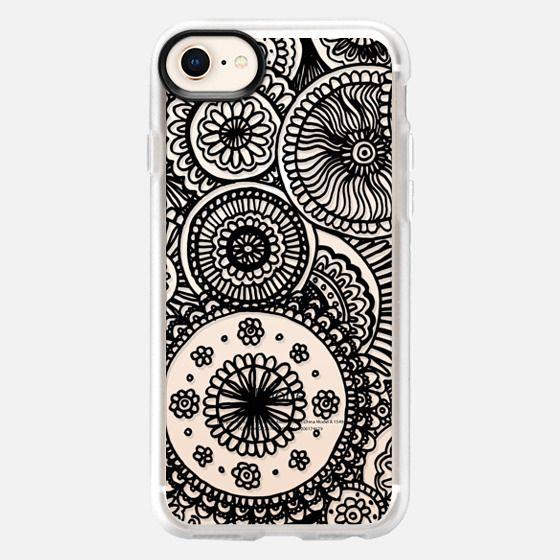 Black Circles Lace Doodle - Snap Case