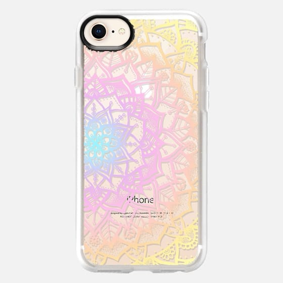 Pretty Lace Mandala #1 (Pastel Rainbow) - Snap Case