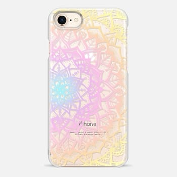iPhone 8 Case Pretty Lace Mandala #1 (Pastel Rainbow)