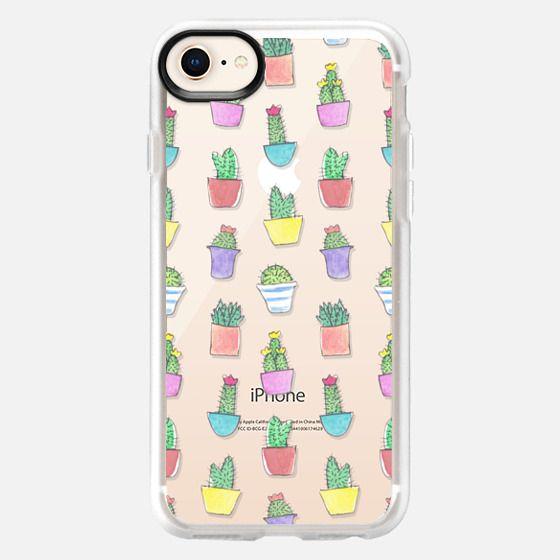 Little Watercolour Cacti Pattern (Transparent) - Snap Case