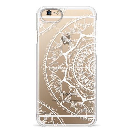 iPhone 6 Cases - White Circle Mandala 1#