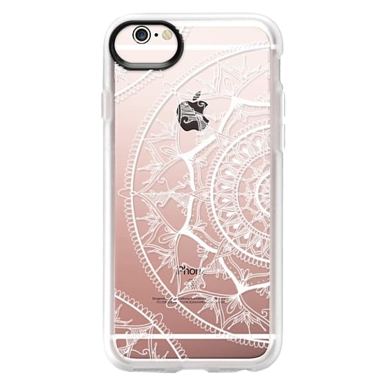 iPhone 6s Cases - White Circle Mandala 1#
