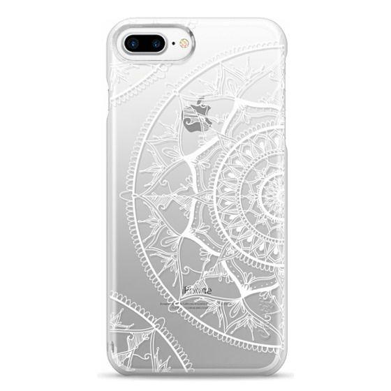 iPhone 7 Plus Cases - White Circle Mandala 1#