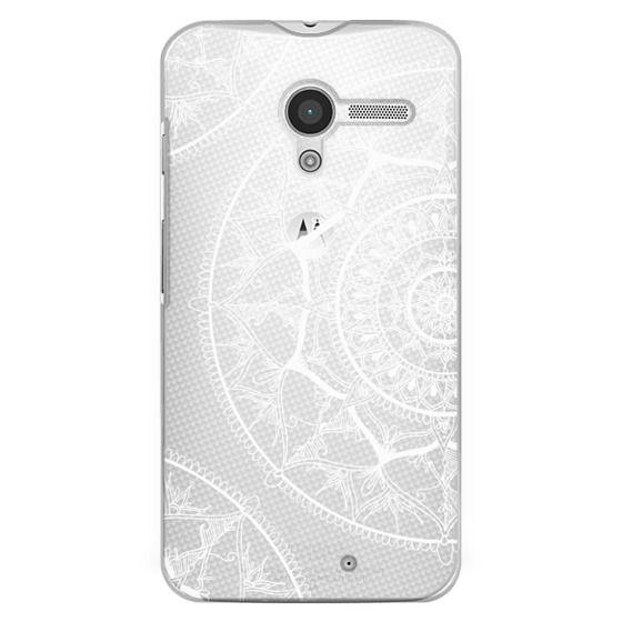 Moto X Cases - White Circle Mandala 1#