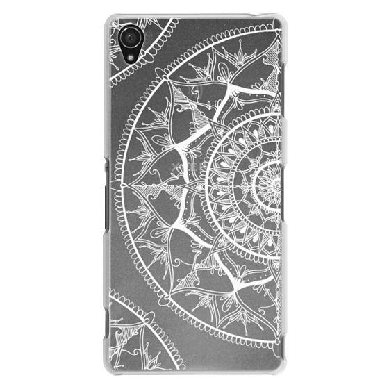 Sony Z3 Cases - White Circle Mandala 1#