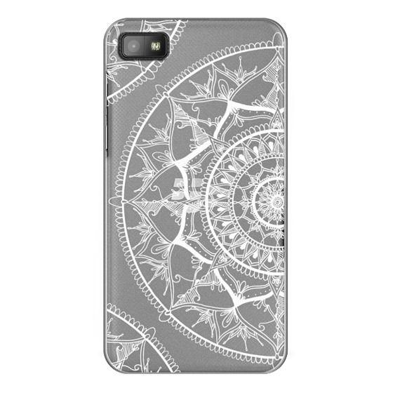 Blackberry Z10 Cases - White Circle Mandala 1#