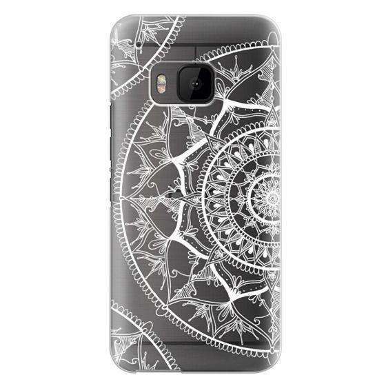 Htc One M9 Cases - White Circle Mandala 1#