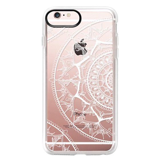 iPhone 6s Plus Cases - White Circle Mandala 1#