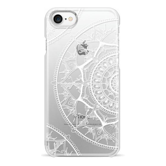 iPhone 7 Cases - White Circle Mandala 1#