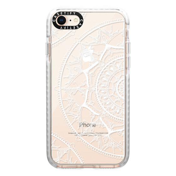 iPhone 8 Cases - White Circle Mandala 1#