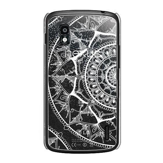 Nexus 4 Cases - White Circle Mandala 1#