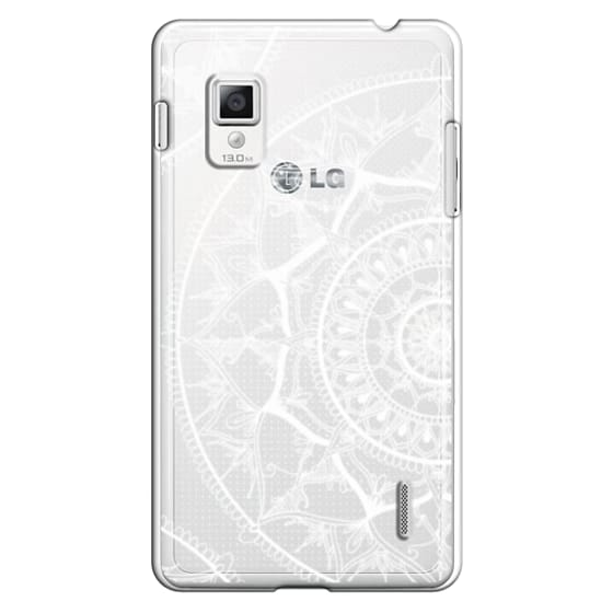 Optimus G Cases - White Circle Mandala 1#