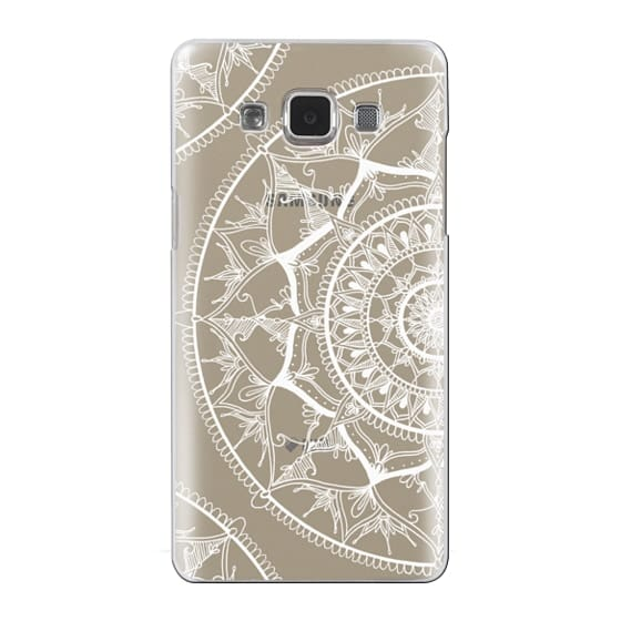 Samsung Galaxy A5 Cases - White Circle Mandala 1#