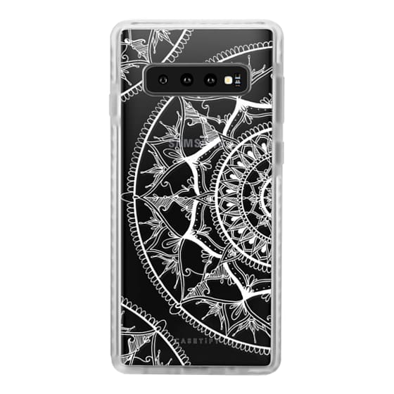 Samsung Galaxy S10 Cases - White Circle Mandala 1#