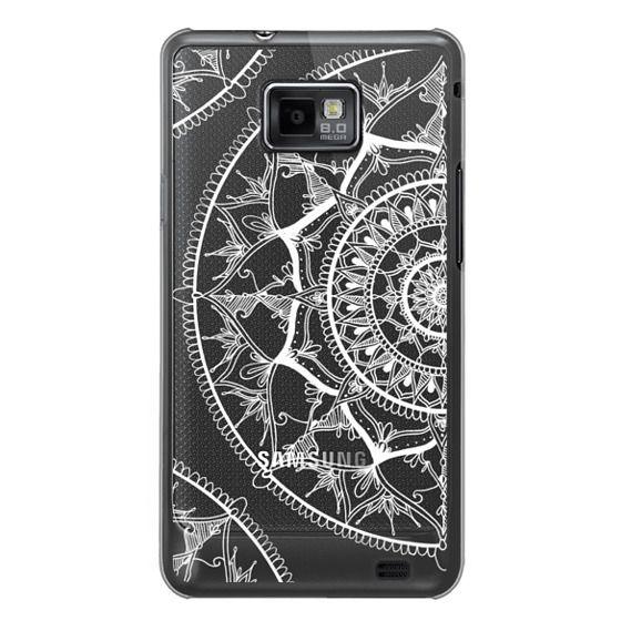 Samsung Galaxy S2 Cases - White Circle Mandala 1#