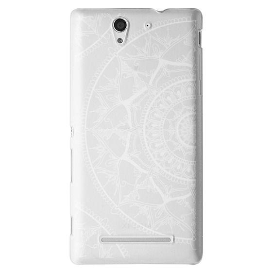 Sony C3 Cases - White Circle Mandala 1#