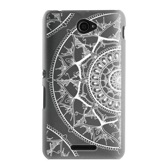 Sony E4 Cases - White Circle Mandala 1#