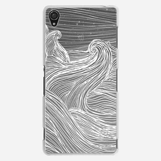 Crashing Waves at Night (Transparent White)