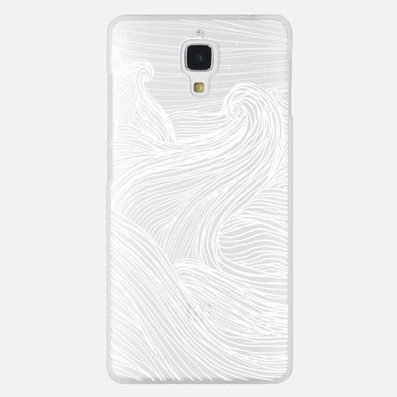 Crashing Waves at Night (Transparent White)