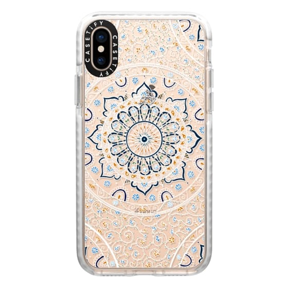 iPhone XS Cases - Summer Nights Mandala on Clear