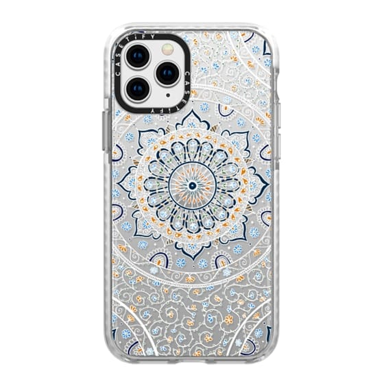 iPhone 11 Pro Cases - Summer Nights Mandala on Clear