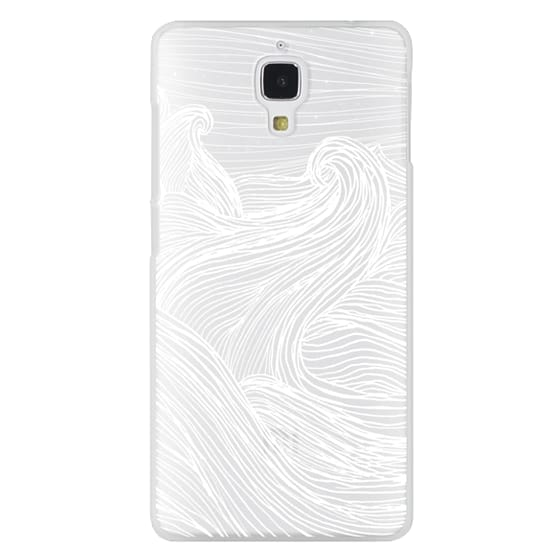 Xiaomi 4 Cases - Crashing Waves at Night (Transparent White)