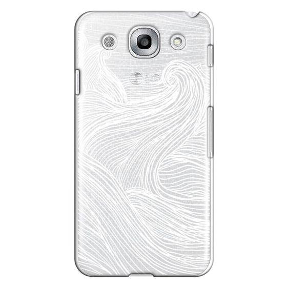 Optimus G Pro Cases - Crashing Waves at Night (Transparent White)