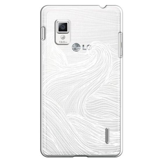 Optimus G Cases - Crashing Waves at Night (Transparent White)