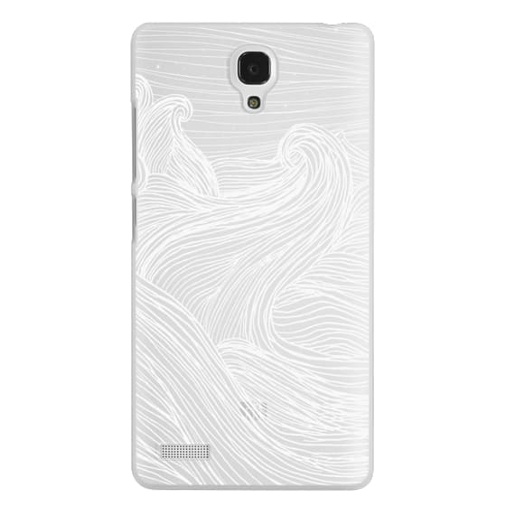 Redmi Note Cases - Crashing Waves at Night (Transparent White)