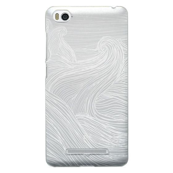 Xiaomi 4i Cases - Crashing Waves at Night (Transparent White)