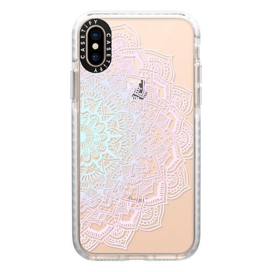 iPhone XS Cases - Pastel Lace Mandala
