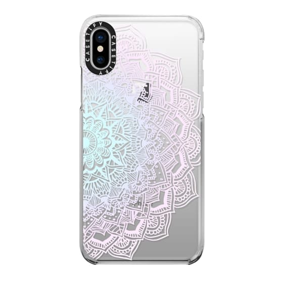 iPhone X Cases - Pastel Lace Mandala