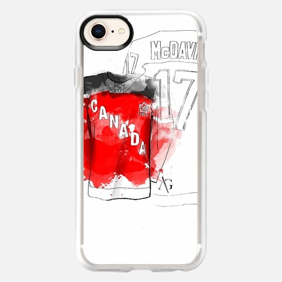Hockey with Wood Case - 5c - Snap Case
