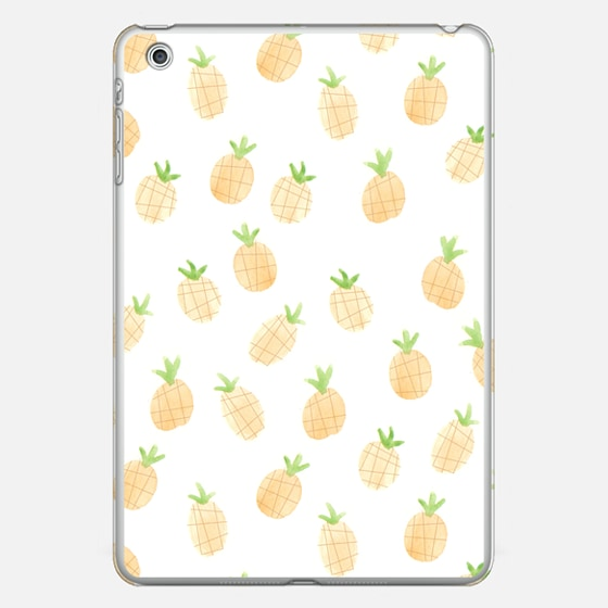 Watercolor Pineapple iPad Case by Wonder Forest
