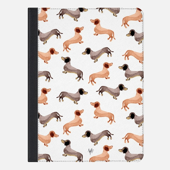 Darling Dachshunds iPad Case by Wonder Forest