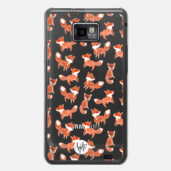 Forest Foxes - Transparent Case by Wonder Forest