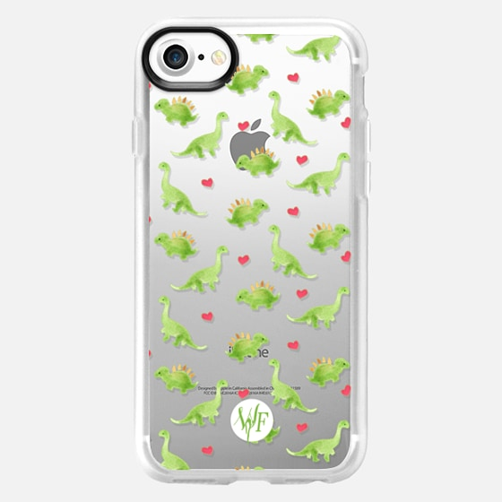Dinosaur Love - Transparent Case by Wonder Forest - Wallet Case