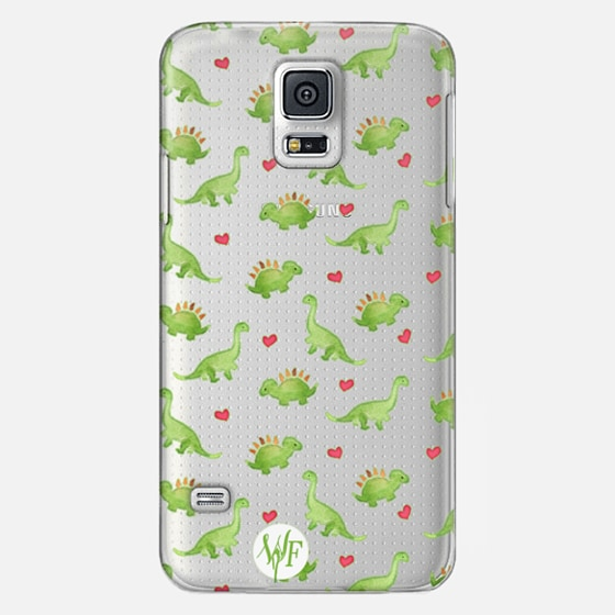 Dinosaur Love - Transparent Case by Wonder Forest