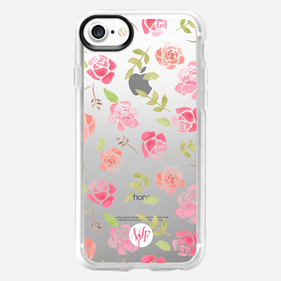 Bed of Roses Transparent  - Watercolor Painted Case by Wonder Forest - Wallet Case