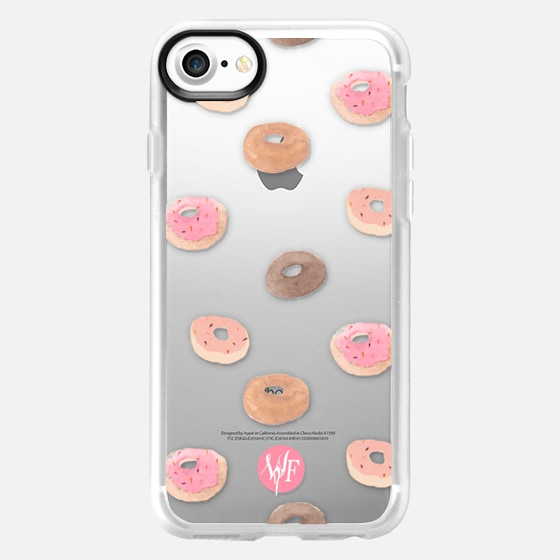 Delicious Donuts - Transparent Watercolor Case by Wonder Forest - Wallet Case