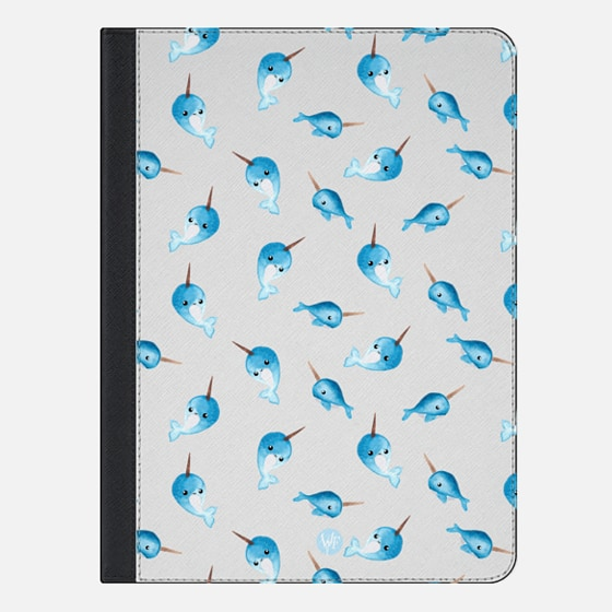 Nutty Narwhals Transparent iPad Case by Wonder Forest