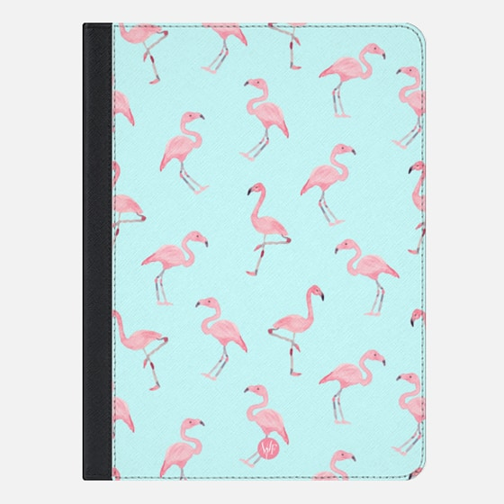 Pink Flamingos by Wonder Forest iPad Case
