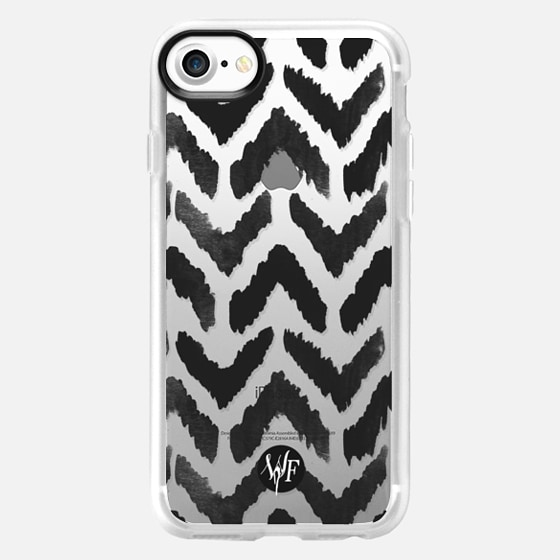 Ikat Chevron Clear Case by Wonder Forest - Wallet Case