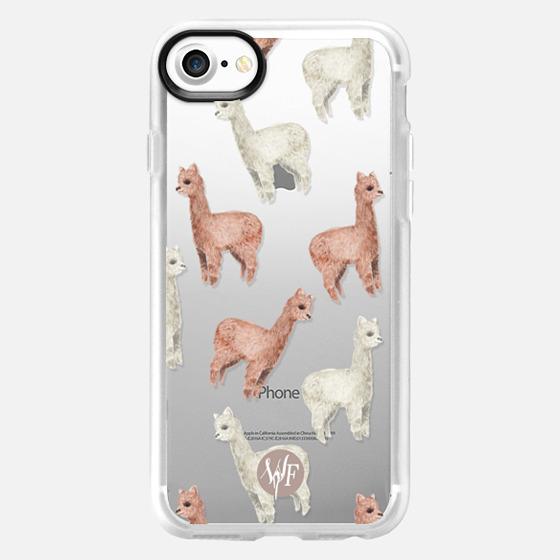 Allover Alpacas Clear Case by Wonder Forest - Wallet Case