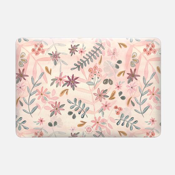 Feminine Floral Macbook Case by Wonder Forest