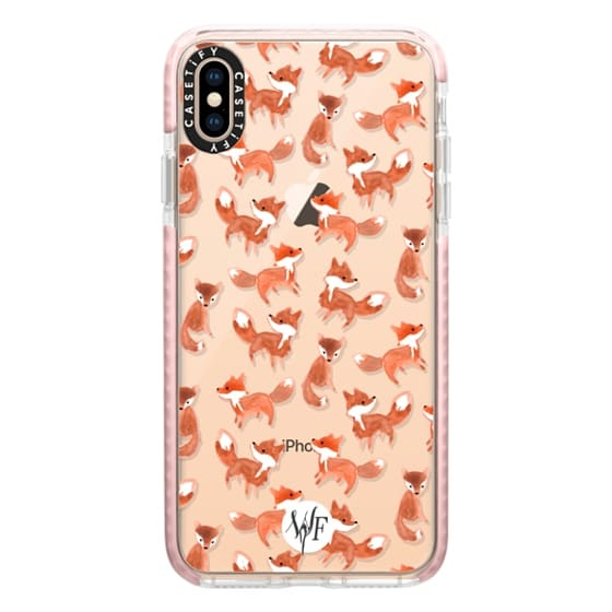 iPhone XS Max Cases - Forest Foxes - Transparent Case by Wonder Forest