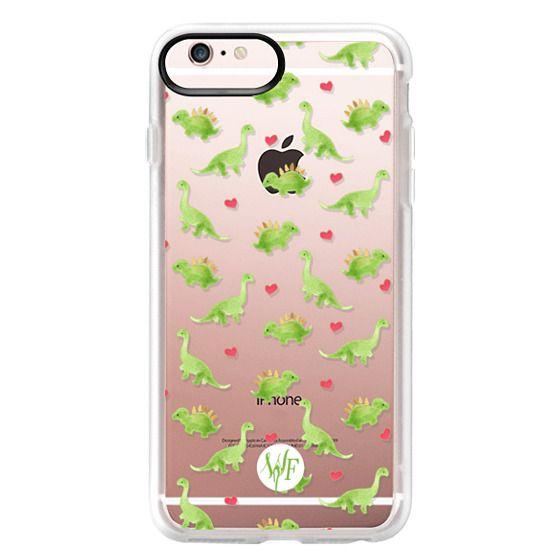 iPhone 6s Plus Cases - Dinosaur Love - Transparent Case by Wonder Forest