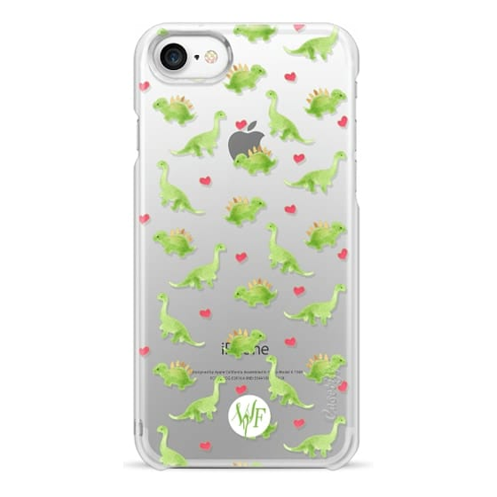 iPhone 7 Cases - Dinosaur Love - Transparent Case by Wonder Forest
