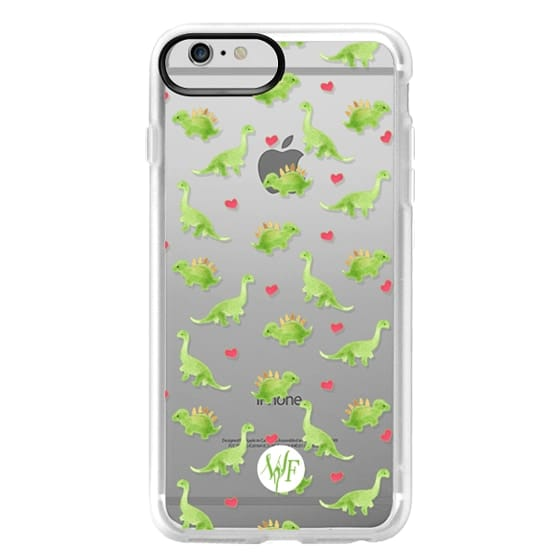 iPhone 6 Plus Cases - Dinosaur Love - Transparent Case by Wonder Forest
