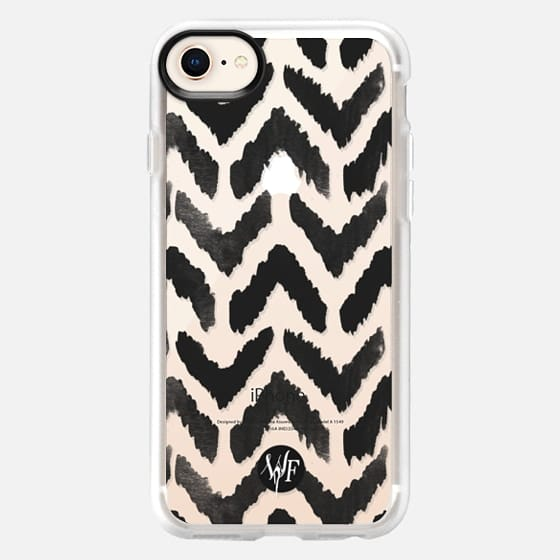 Ikat Chevron Clear Case by Wonder Forest - Snap Case